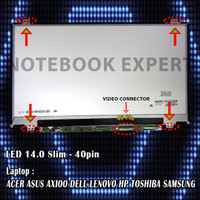 LED 14.0 SLIM - Laptop ACER ASUS AXIOO DELL LENOVO HP TOSHIBA SAMSUNG