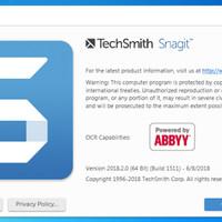 Techsmith Snagit Windows Version 2018 Original Lifetime Update