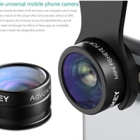 Lensa Kamera Smartphone Aukey Fisheye HD 160° 20X Macro
