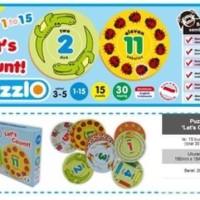 """Mainan Edukasi/Edukatif Anak-Kartu Edukasi/Edufun Puzzlo """"Let's Count"""""""