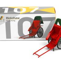 Tiny Diecast 107 Rickshaw Hongkong