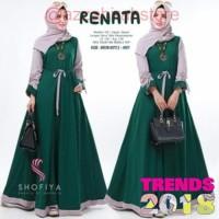 gamis terbaru /gamis muslim / new renata dres #2 - Hijau Tua