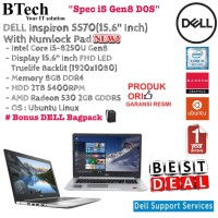 DELL Inspiron 5570 Intel Core i5-8250U /8GB/2TB/AMD RADEON 530/DOS