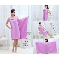 Baju Handuk Kimono Mandi Wearable Bath Towel Dress Multifungsi Keramas