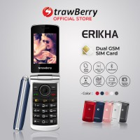 Strawberry Erikha | Handphone Flip HP Murah Kamera Bluetooth