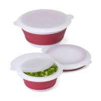Cooks Habit Progressive Red Collapsible Bowl Set Of 3