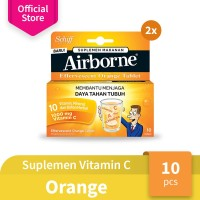 Airborne Vitamin C - Airborne Effervescent Orange 10 Tablet x 2 pcs
