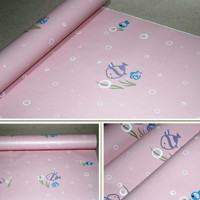 Wallpaper dinding uk 45cmx10m kode 2133 ikan cute pink
