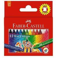 Crayon wax Faber castell 12 warna