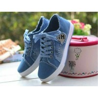Jual Sepatu Wanita Kets Casual Jeans SDS225 Murah