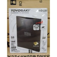 ANTENA TV TOYOSAKI AIO 220 + KABEL 10 M INDOOR / OUTDOOR LUAR DALAM