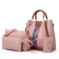 hand bag cantik Code:HC2155, Material:Kulit, Uk:23x25x14, Warna: Pink