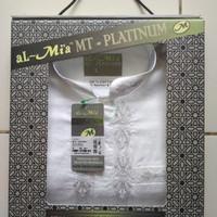 Baju Koko Muslim Pria Al Mia MT Platinum Putih Lengan Panjang Original