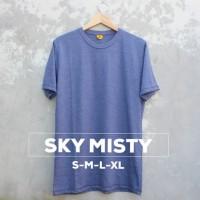 Harga kaos polos sky misty kaos polos biru muda misti baju polos | Pembandingharga.com