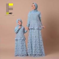 Baju Gamis Sepasang Ibu Dan Anak Muslim Wanita High Quality Mom & Kids