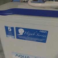 Mesin cuci aqua dua tabung hijab series (sanyo jepang)