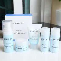 Harga ready stock laneige white dew trial kit 5 items | Pembandingharga.com