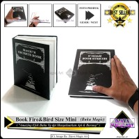 Mini Magic Secrets Book Fire & Bird - Size Mini- Art - Alat Sulap