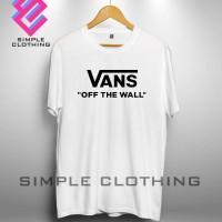 Baju Kaos Distro Tshirt Vans Off The Wall Costumerch Keren