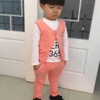 Baju Setela Rompi 3 in 1 | Baju Rompi Anak Gaya Korea Import Murah