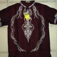 Baju Koko Pria Lengan Pendek Bordir Bahan Katun Polinosik Merk Benhill