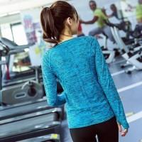 kaos t-shirt wanita sport baju lengan panjang gym fitness olahraga