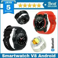 Promo smartwatch V8 Simcard Memory Bluetooth Smartwatch DZ11_Hitam