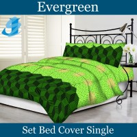 Tommony Bed Cover Single - Evergreen