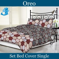 Tommony Bed Cover Single - Oreo