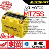 Aki motor motobatt gel untuk Vixion,Byson,Xeon,Mio J,Jupiter MX.