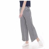 Okechuku Celana Kulot Stripe Fashion Wanita Bahan Salur Korea Style