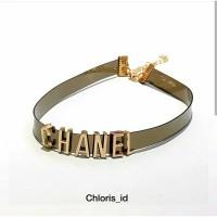 Aksesoris Kalung Choker Chanel