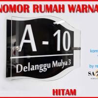 Nomor / Nomer Rumah Akrilik / Acrylic Huruf Timbul 18 Bentuk - wr301