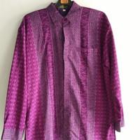 PRELOVED Kemeja batik pria ungu size besar