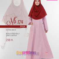 Gamis Nibraa NB 174 pink
