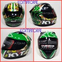HELM KYT R10 MOTIF #1 BLACK GREEN FULL FACE R 10
