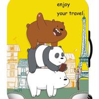 WE BARE BEARS elastic luggage cover sarung pelindung koper size L