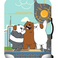WE BARE BEARS elastic luggage cover sarung pelindung koper size M
