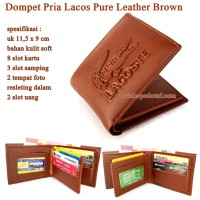 Dompet Kulit Pria Lacos Pure Leather BROWN