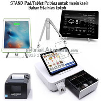 Stand iPad, Tablet Android bahan Stainles steel