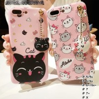Cover HP For Iphone X5 5s 6 6s 6 6s 7 7plus New Cute Neko Cat Case