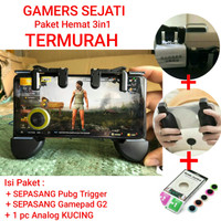 GAMERS SEJATI PUBG 3in1 Shooter L1R1 Joystick Analog Kucing Gamepad Hp