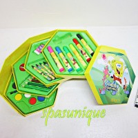 Crayon Set 46 Pieces Karakter Sponge Bob