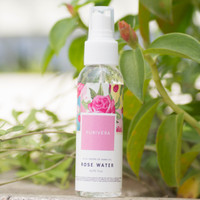 Purivera Rose Water With Rose Oil - Setting Mist Spray - Air Mawar