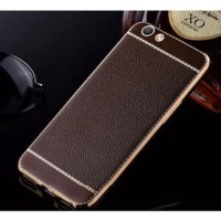 Softcase TPU Leather Tekstur Litchi Cover Case Casing HP Oppo F3/A77