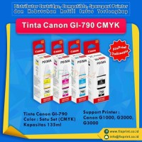1SET Tinta Canon Original GI-790 Printer Canon G1000 G2000 G3000 G4000