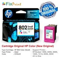 Cartridge Tinta Original HP 802 Color, Printer HP Deskjet 1000, 2000