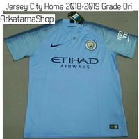 Jersey Manchester City Home 2018 2019 GRADE ORI + NAMESET