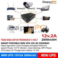 PROMO Portable Smart Mini UPS 12V/2A 2000mAh