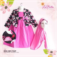 baju busana gamis muslim anak perempuan labella TWP.14(2-6th)